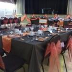 Chocolate & orange themed wedding at Tewin Memorial Hall
