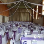 Main hall decorated for a wedding in Tewin Memorial Hall