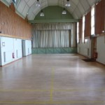 Main hall in Tewin Memorial Hall with view of stage