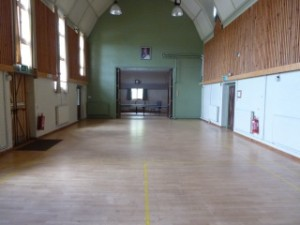 Imposing Main Hall with high ceilings and sprung floor at Tewin Memorial Hall