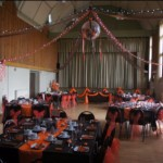 Chocolate orange themed wedding at Tewin Memorial Hall