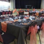 Chocolate & orange themed wedding at Tewin Memorial Hall